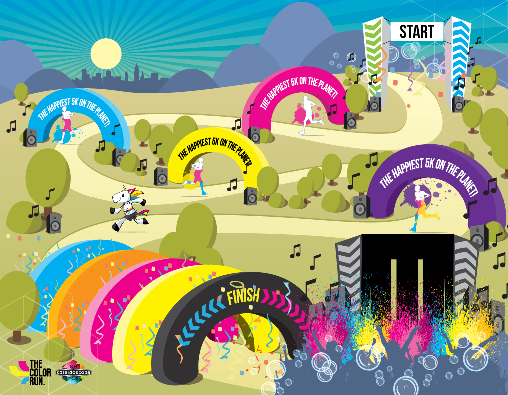 Infographic The Color Run